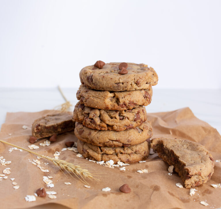 An image of cookies stacked